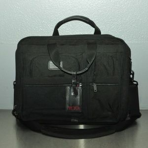 Tumi canvas laptop messenger bag
